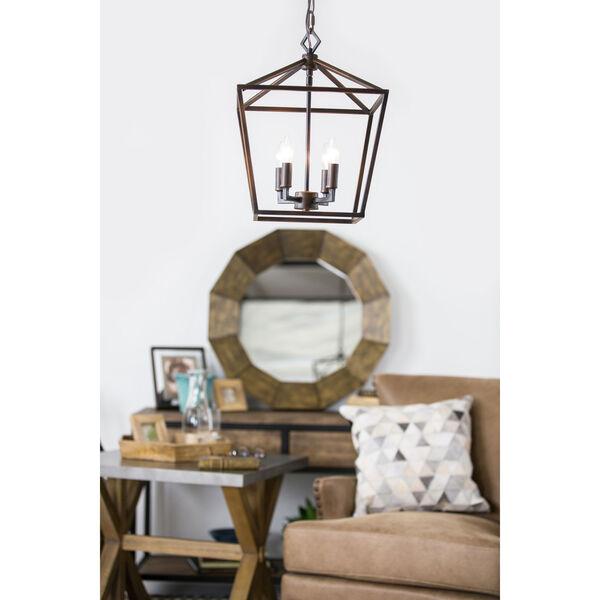 Kenwood Rubbed Bronze Four-Light Lantern Pendant, image 13