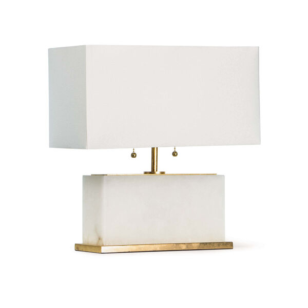 Ali Natural Stone Two-Light Table Lamp, image 1