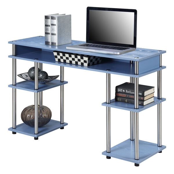 Designs2Go Blue No Tools Student Desk, image 3