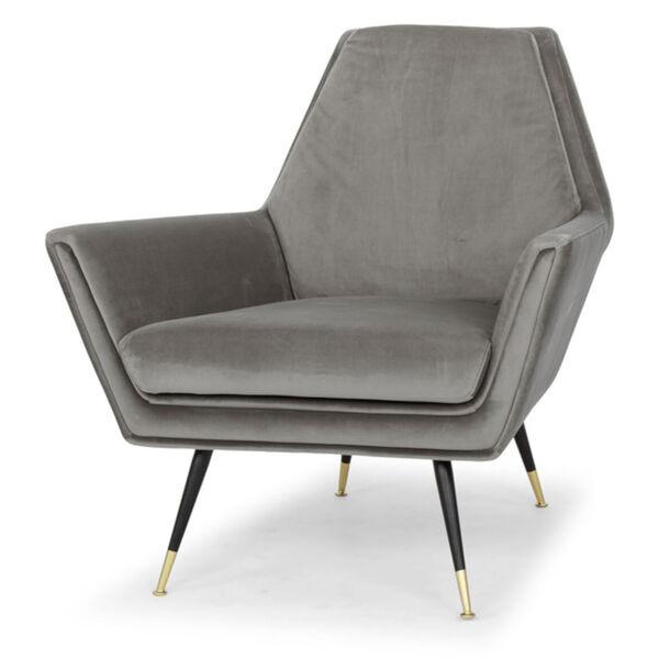 Vanessa Smoke Gray and Black Occasional Chair, image 1