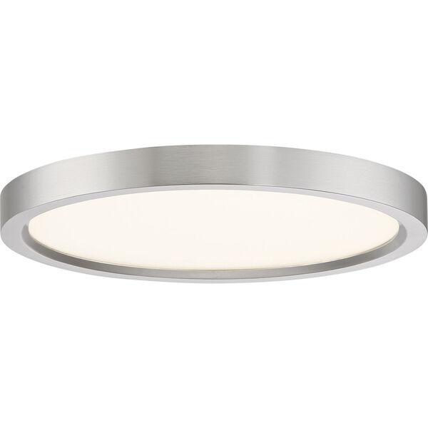 Outskirt Brushed Nickel 11-Inch LED Flush Mount, image 1