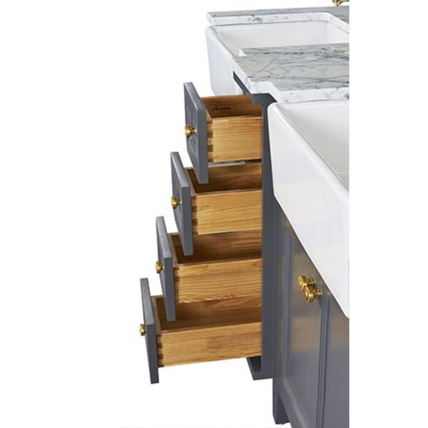 Adeline Sapphire 60-Inch Vanity Console with Farmhouse Sinks, image 4