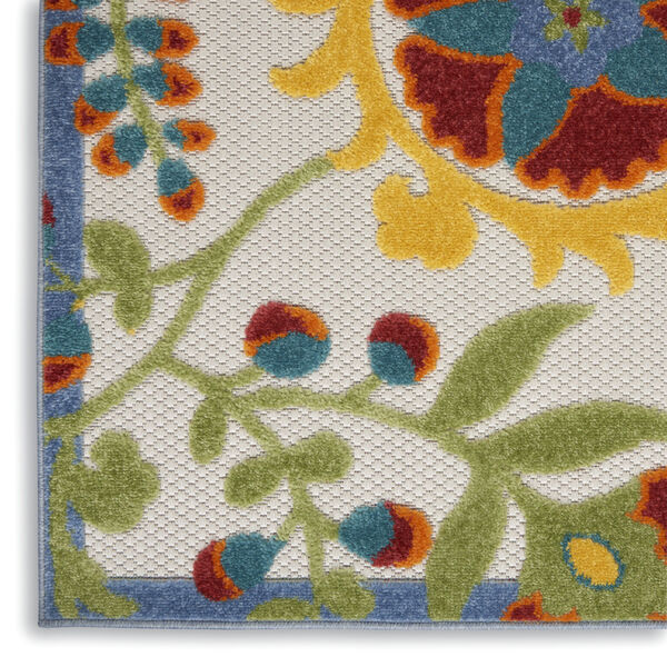 Aloha Yellow and Blue 12 Ft. x 15 Ft. Indoor/Outdoor Rectangle Area Rug, image 5
