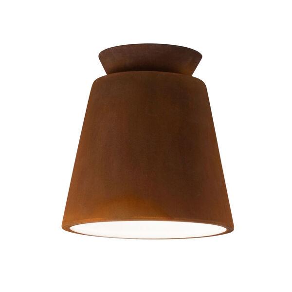 Radiance One-Light Ceramic Trapezoid Outdoor Flush Mount, image 1