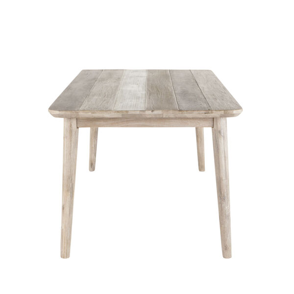 Newport Whitewash and Weathered Gray 79-Inch Dining Table, image 4