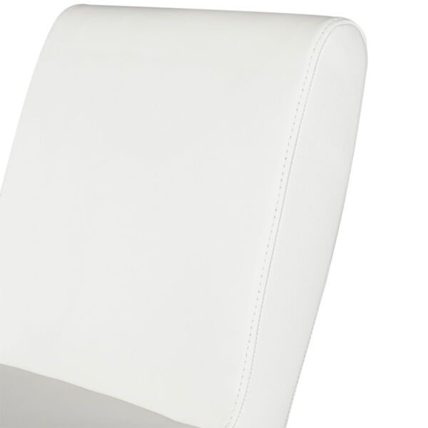 Lewis White and Silver Adjustable Stool, image 4