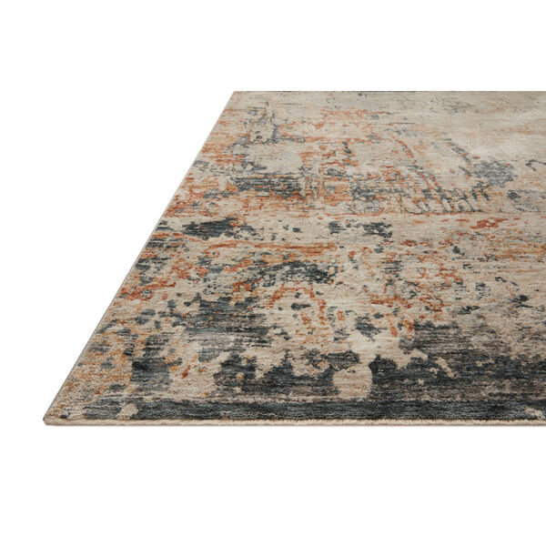 Axel Stone, Blue and Spice 5 Ft. x 7 Ft. 8 In. Area Rug, image 3