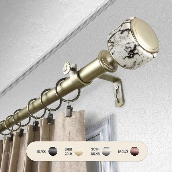 Josephine Gold 160-240 Inch Curtain Rod, image 1
