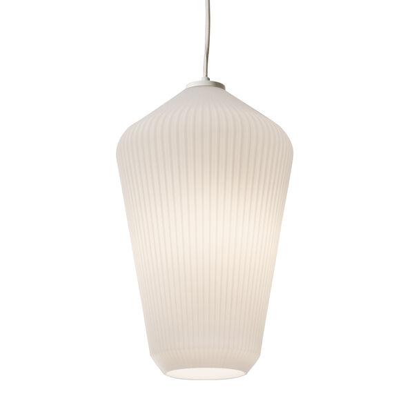 Lola White 11-Inch One-Light Pendant, image 1