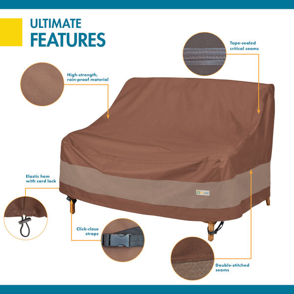 Ultimate Mocha Cappuccino 58-Inch Deep Loveseat Cover, image 3