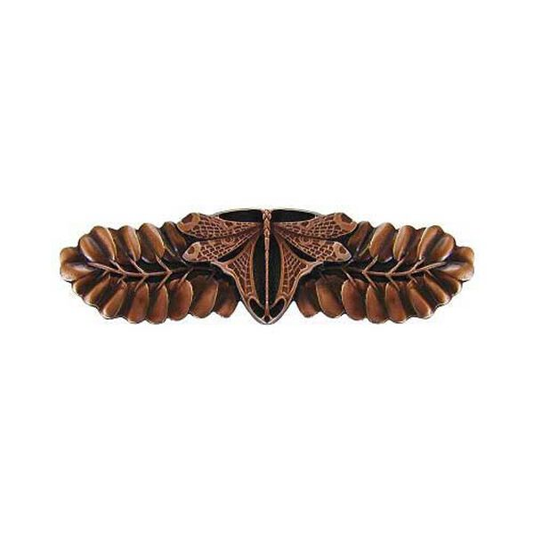 Antique Copper Dragonfly Pull, image 1