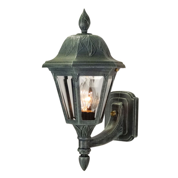 Floral Small Outdoor Bottom Wall Mount, image 1