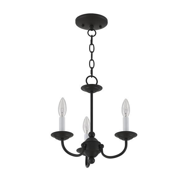 Home Basics Black Three-Light Mini Chandelier, image 6