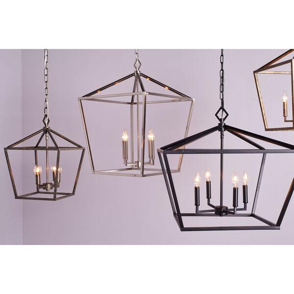Kenwood Matte Black 12-Inch Four-Light Lantern Pendant, image 3
