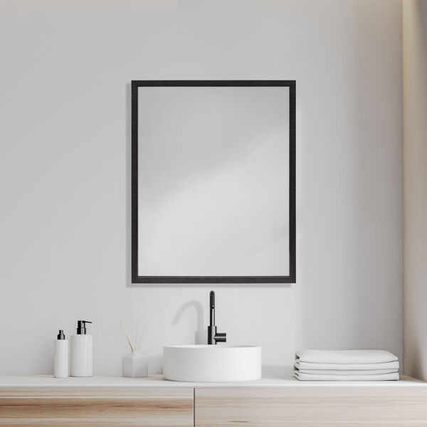 Black 32-Inch Wall Mirror, image 1