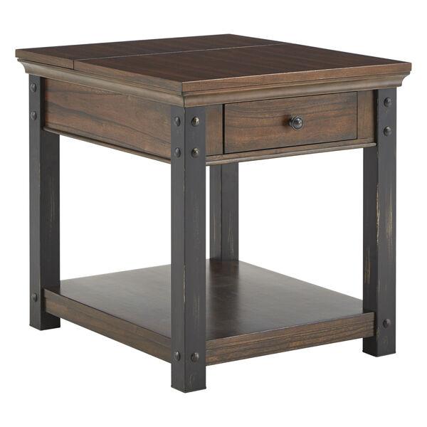 Newton Dark Cherry End Table, image 1
