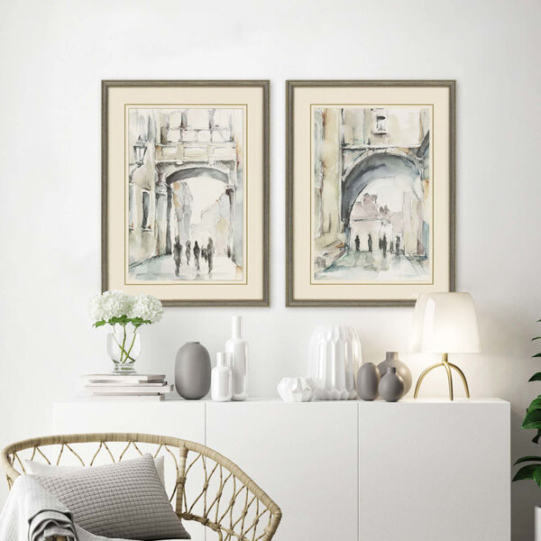 Neutral 32 H x 24 W-Inch Watercolor Arches I Wall Art, Set of 2, image 1
