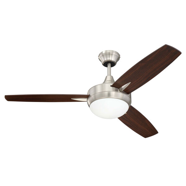 Targas Brushed Polished Nickel 48-Inch LED Ceiling Fan with Three Blades, image 1