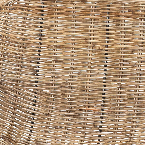 Nusa Natural Rattan and Black Steel Counter Stool, image 2