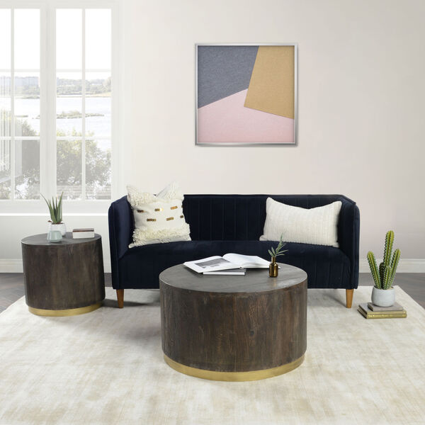 Andy Espresso Brown and Antique Brass End Table, image 3