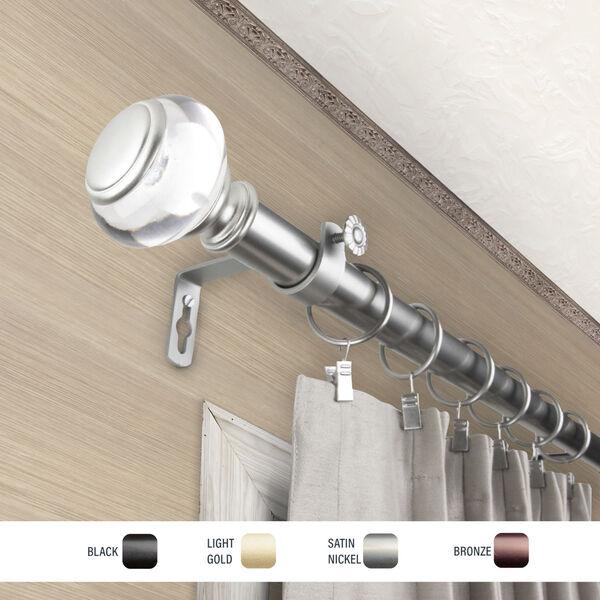 Ironwood Satin Nickel 120-170 Inch Curtain Rod, image 3