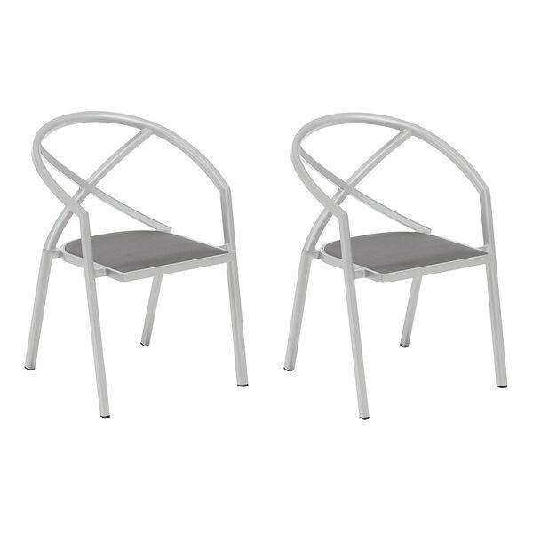 Azal Titanium Armchair, Set of Two, image 1