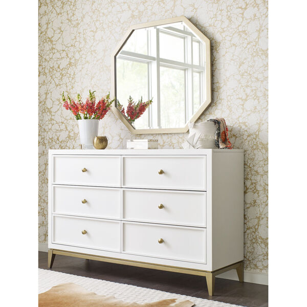 Chelsea by Rachael Ray White with Gold Accents Kids Dresser, image 2