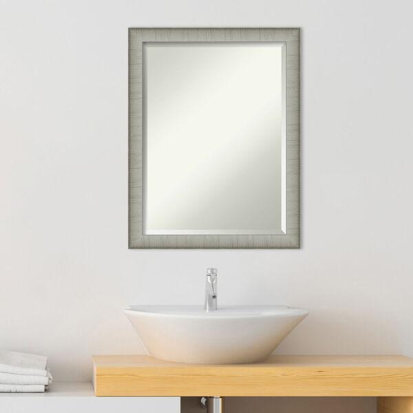 Elegant Pewter 21W X 27H-Inch Bathroom Vanity Wall Mirror, image 3