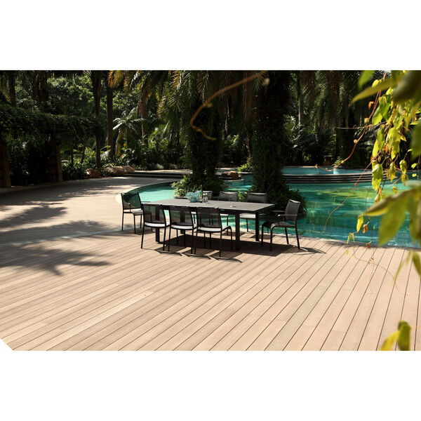 Alum Gray Outdoor Dining Table, image 2