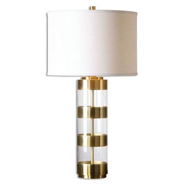 Vaughn Brushed Brass and Acrylic Table Lamp, image 1