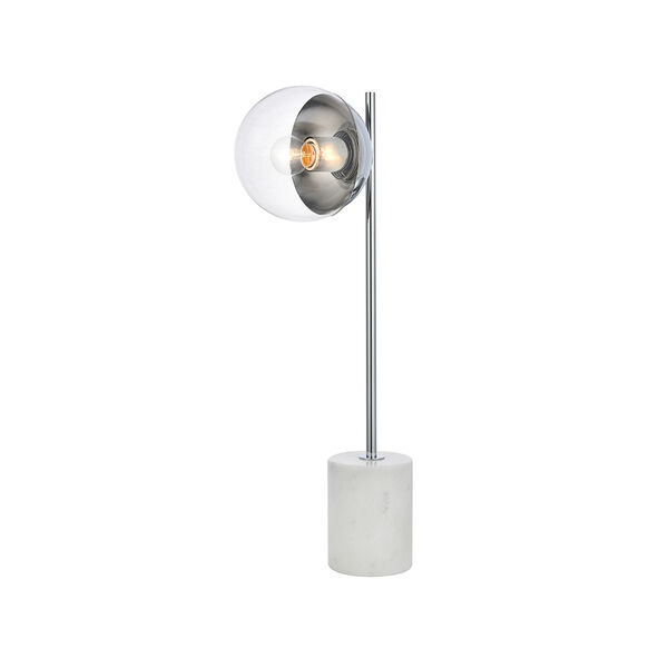 Eclipse Chrome One-Light Table Lamp, image 3