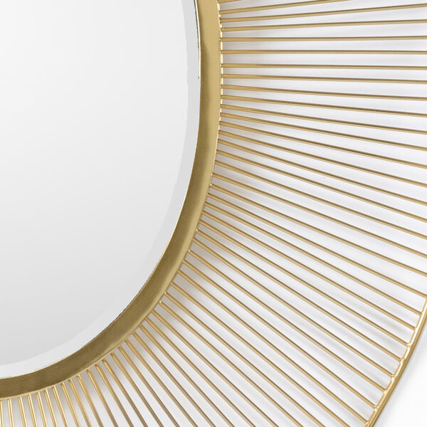 White and Gold 35-Inch Luton Mirror, image 2