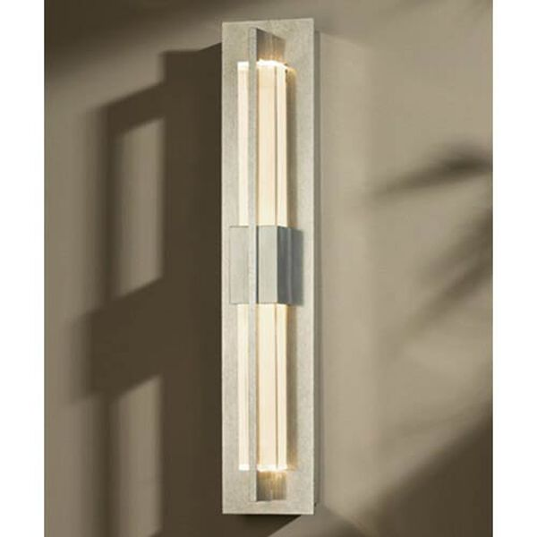 Double Axis Vintage Platinum LED Small Wall Sconce with Clear Glass, image 1