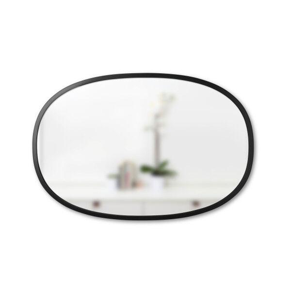 Hub 24 In. Black Oval Wall Mirror, image 1