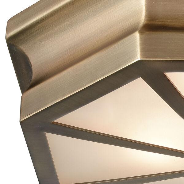 Windsor Classic Brass 16-Inch Three-Light Flush Mount, image 2