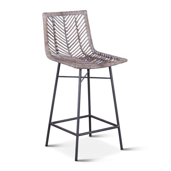 Bali Gray Whitewash Counter Chair, Set of 2, image 2