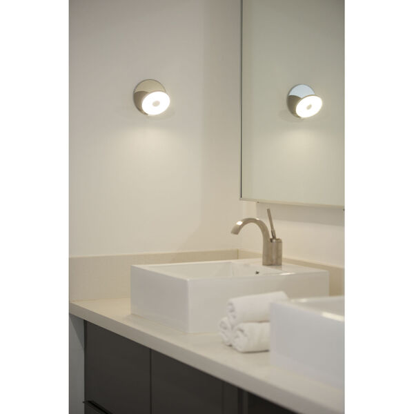 Gravy Chrome Silver LED Hardwire Wall Sconce, image 6