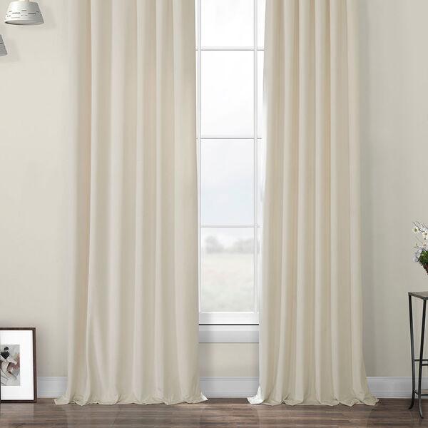 Ivory Heritage Plush Velvet Curtain Single Panel, image 6
