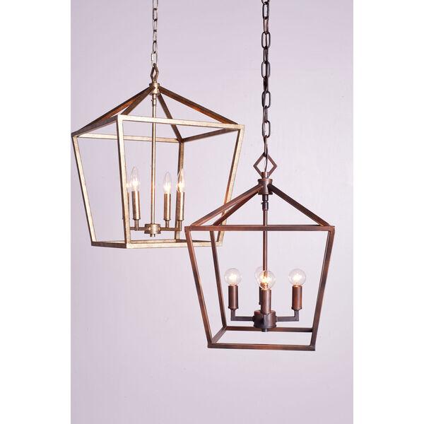 Kenwood Vintage Gold Four-Light Lantern Pendant, image 5