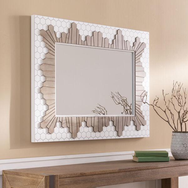 Genaro White Wall Mirror, image 1