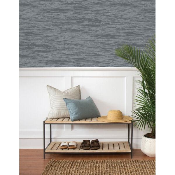 NextWall Gray Serene Sea Peel and Stick Wallpaper, image 3