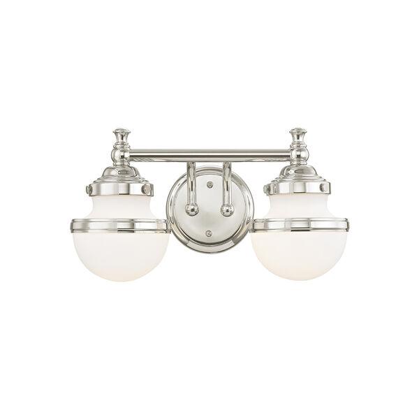 Oldwick Polished Chrome Two-Light 15-Inch Bath Vanity, image 1