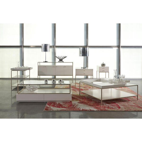 Delaney White End Table with Removable Tray, image 3