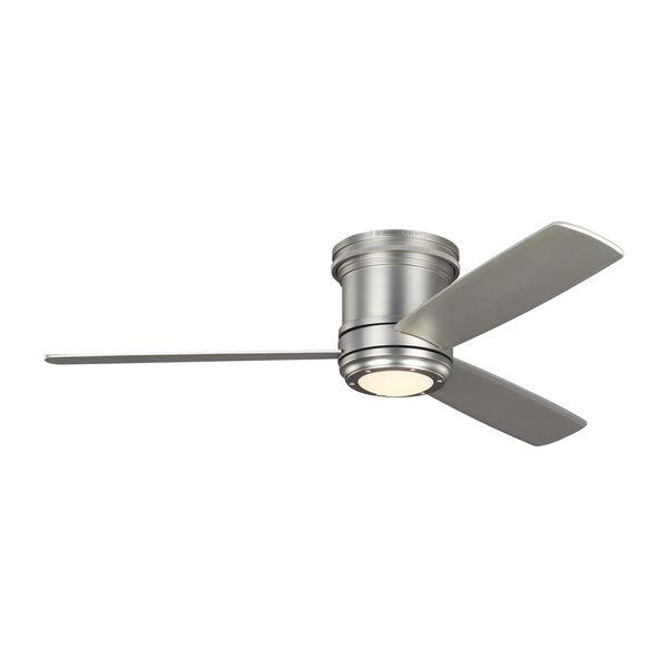 Aerotour Semi-Flush Satin Nickel 56-Inch LED Hugger Ceiling Fan, image 1