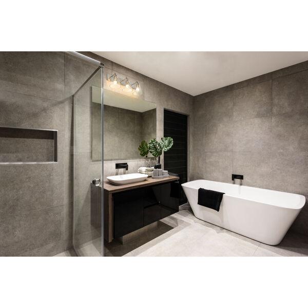Harper Brushed Nickel Three-Light Bath Vanity - (Open Box), image 2