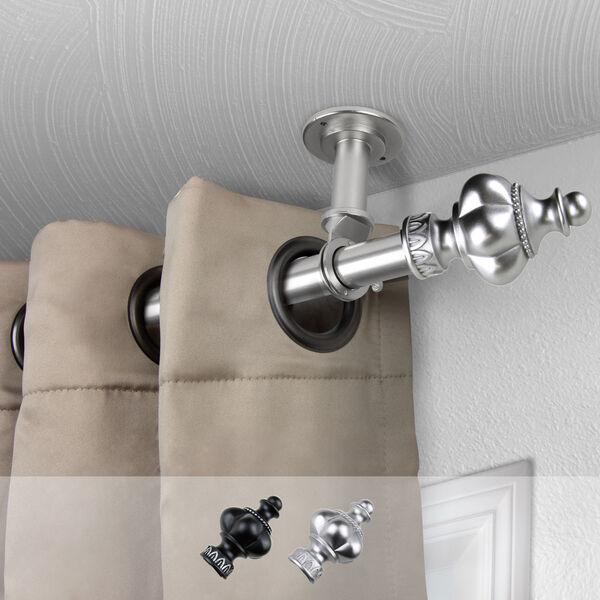 Terra Satin Nickel 84-Inch Ceiling Curtain Rod, image 2
