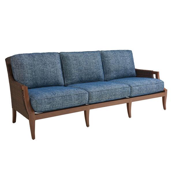 Harbor Isle Brown and Blue Sofa, image 1