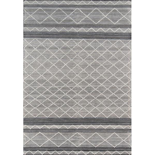 Hermosa Geometric Gray Rectangular: 5 Ft. x 8 Ft. Rug, image 1