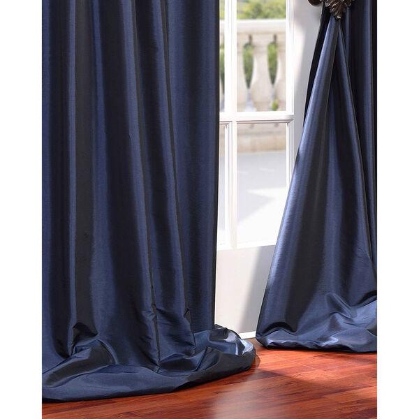 Navy Blue 84 x 50-Inch Blackout Faux Silk Taffeta Curtain Single Panel, image 5