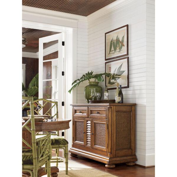 Island Estate Brown Antigua Server, image 2